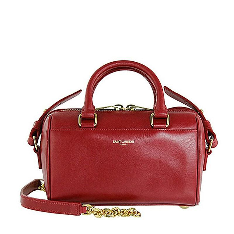 Saint Laurent Paris圣罗兰Classic Duffle系列 女士红色牛皮手提肩背包 340238 C150J 6416